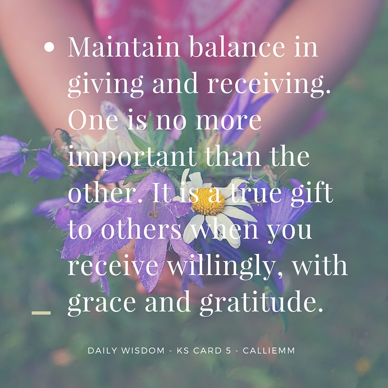 Giving & Receiving